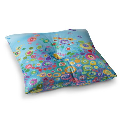 Inner Circle by Catherine Holcombe Floor Pillow Size: 23 x 23, Color: Blue