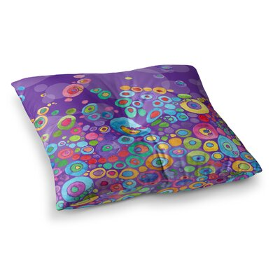Inner Circle by Catherine Holcombe Floor Pillow Size: 23 x 23, Color: Purple/Lavender