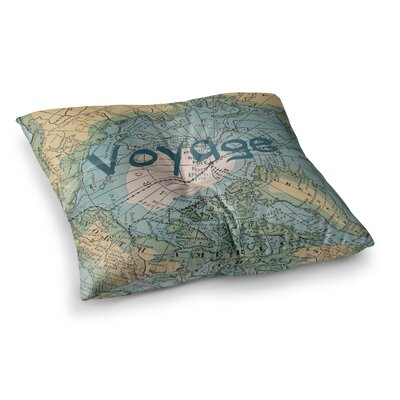 Voyage Map by Catherine Holcombe Floor Pillow Size: 26 x 26