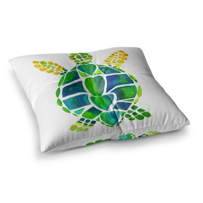 Turtle Love by Catherine Holcombe Floor Pillow Size: 26 x 26