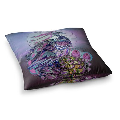Peacock by Catherine Holcombe Floor Pillow Size: 26 x 26