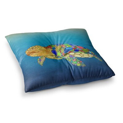 Bubbles Turtle by Catherine Holcombe Floor Pillow Size: 23 x 23