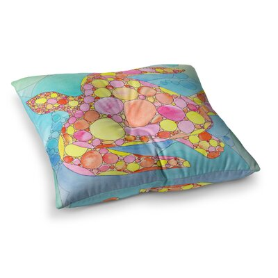 Circle Turtle by Catherine Holcombe Floor Pillow Size: 26 x 26