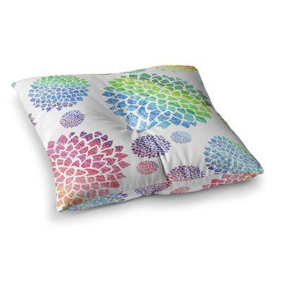 Feel the Rainbow by Catherine Holcombe Floor Pillow Size: 23 x 23