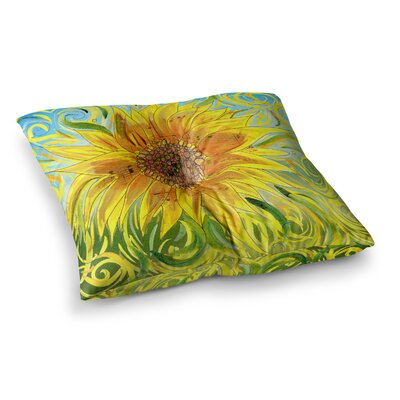 Sunflower Symphony by Catherine Holcombe Floor Pillow Size: 26 x 26