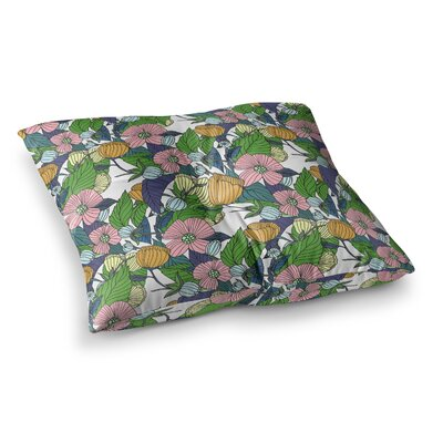 Spring Foliage Floral Pastels by Catherine Holcombe Floor Pillow Size: 26 x 26