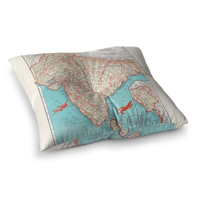 Travel to India by Catherine Holcombe Floor Pillow Size: 26 x 26