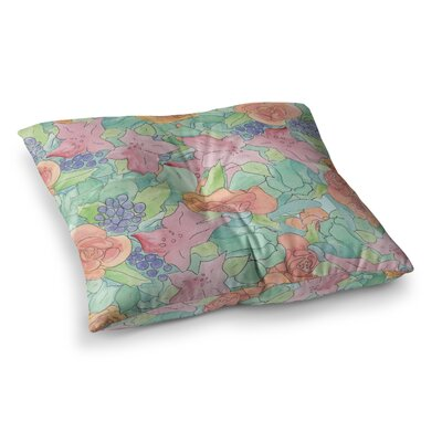 Southwestern Floral by Catherine Holcombe Floor Pillow Size: 26 x 26