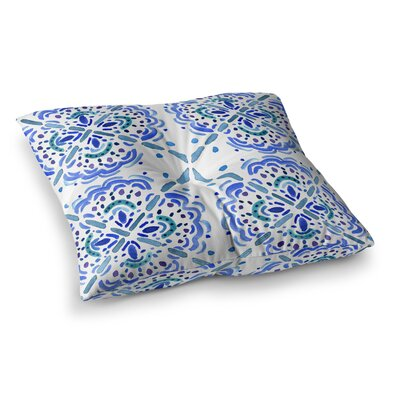 Amalifi Coast Painting by Catherine Holcombe Floor Pillow Size: 26 x 26