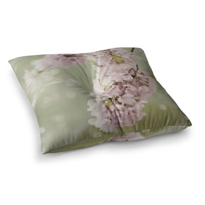 Cherry Blossom by Catherine McDonald Floor Pillow Size: 26 x 26