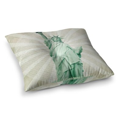 The Lady Statue of Liberty by Catherine McDonald Floor Pillow Size: 23 x 23