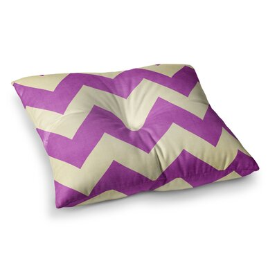 Juicy Chevron by Catherine McDonald Floor Pillow Size: 26 x 26