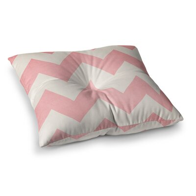 Sweet Kisses Chevron by Catherine McDonald Floor Pillow Size: 23 x 23