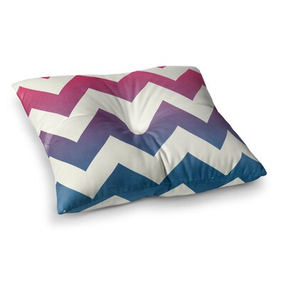 Fade Chevron by Catherine McDonald Floor Pillow Size: 26 x 26