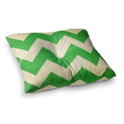 Granny Smith Chevron by Catherine McDonald Floor Pillow Size: 26 x 26