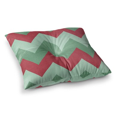 Holiday Chevrons by Catherine McDonald Floor Pillow Size: 23 x 23