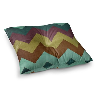 Mountain High Art Object by Catherine McDonald Floor Pillow Size: 23 x 23