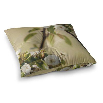 Pear Blossom by Catherine McDonald Floor Pillow Size: 26 x 26