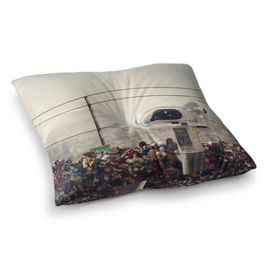 The View Seoul by Catherine McDonald Floor Pillow Size: 26 x 26