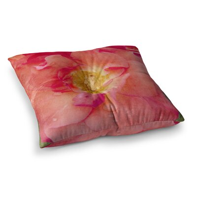 Rose Flower by Catherine McDonald Floor Pillow Size: 23 x 23