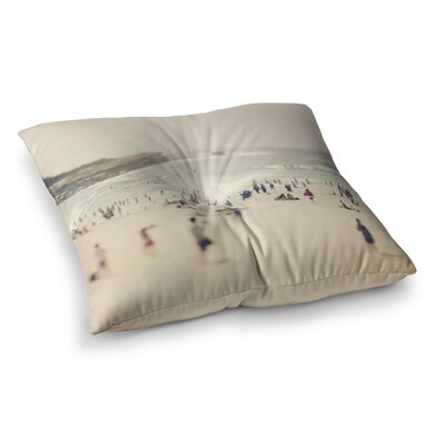 Bondi Beach People by Catherine McDonald Floor Pillow Size: 26 x 26