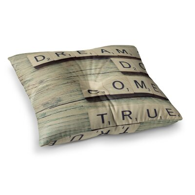 Dreams Wood by Cristina Mitchell Floor Pillow Size: 23 x 23