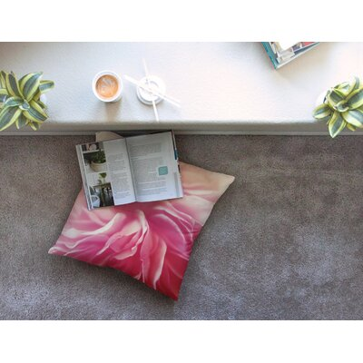 Petals Floral Rose by Cristina Mitchell Floor Pillow Size: 26 x 26