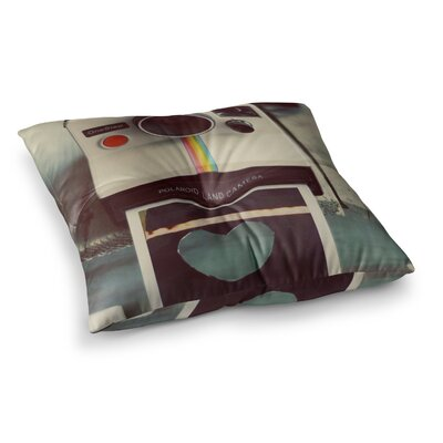 Polaroid Love Camera by Cristina Mitchell Floor Pillow Size: 23 x 23