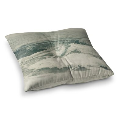 Crashing Waves Ocean by Cristina Mitchell Floor Pillow Size: 23 x 23