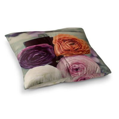Four Kinds of Beauty Roses by Cristina Mitchell Floor Pillow Size: 23 x 23