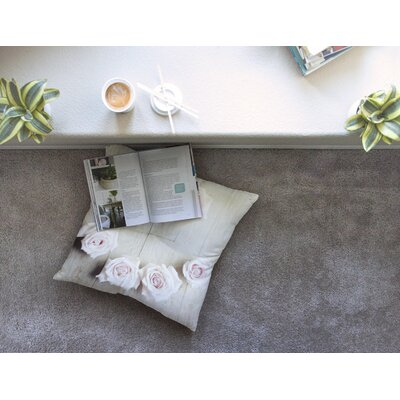Smile Wood Roses by Cristina Mitchell Floor Pillow Size: 26 x 26