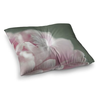 A Single Peony Floral Photography by Cristina Mitchell Floor Pillow Size: 26 x 26