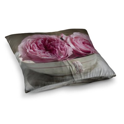Roses in a Tea Cup Floral Photography by Cristina Mitchell Floor Pillow Size: 23 x 23