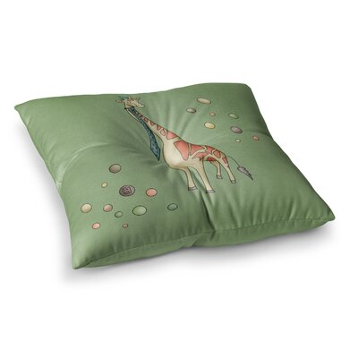 Giraffe by Carina Povarchik Floor Pillow Size: 26 x 26