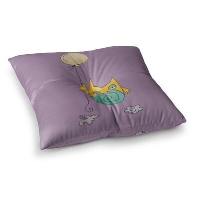 Lechuzita en Ballon Owl by Carina Povarchik Floor Pillow Size: 26 x 26