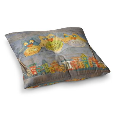 Lechuzas by Carina Povarchik Floor Pillow Size: 26 x 26