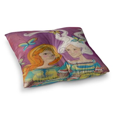 Amigas People by Carina Povarchik Floor Pillow Size: 26 x 26