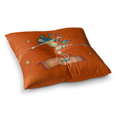 Being Free by Carina Povarchik Floor Pillow Size: 26 x 26