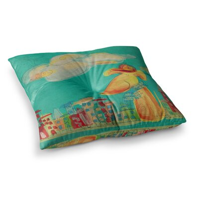 Perrito Dog by Carina Povarchik Floor Pillow Size: 23 x 23