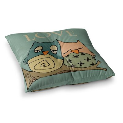 Lechuzas Love Owls by Carina Povarchik Floor Pillow Size: 23 x 23