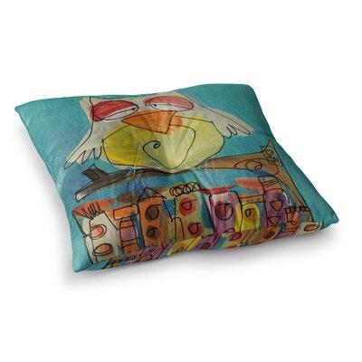 Urban Owl by Carina Povarchik Floor Pillow Size: 26 x 26