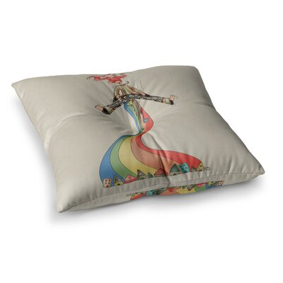 Weeeee Fantasy Illustration by Carina Povarchik Floor Pillow Size: 26 x 26