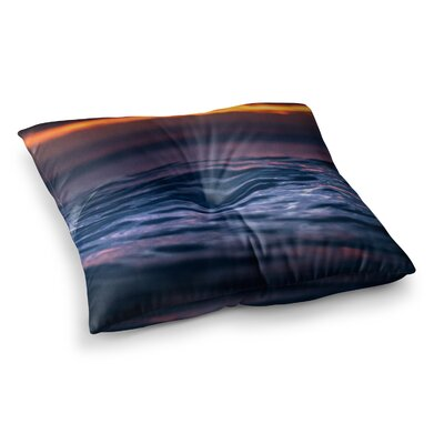 Night Fire Photography by Colin Pierce Floor Pillow Size: 26 x 26