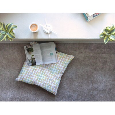 Pastel Houndstooth by Empire Ruhl Floor Pillow Size: 26 x 26