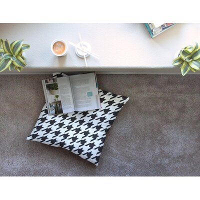 Spacey Houndstooth by Empire Ruhl Floor Pillow Size: 26 x 26