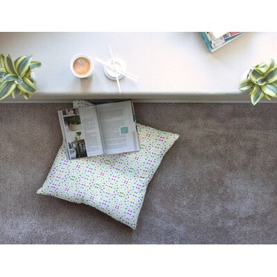Neon Triangles by Empire Ruhl Floor Pillow Size: 23 x 23