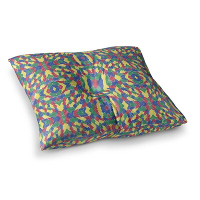 Energy Abstract by Empire Ruhl Floor Pillow Size: 23 x 23