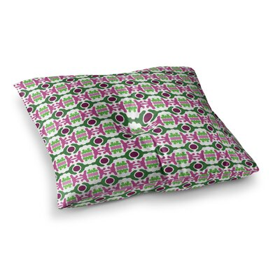 Island Dreaming Abstract by Empire Ruhl Floor Pillow Size: 23 x 23