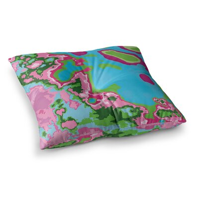 Spring Agate Abstract by Empire Ruhl Floor Pillow Size: 26 x 26