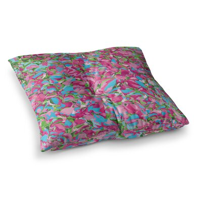 Abstract Spring Petals by Empire Ruhl Floor Pillow Size: 26 x 26
